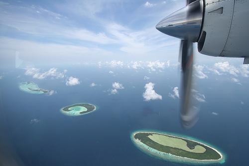 Maledivy ze vzduchu