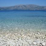 Chorvatská pláž na Korčule