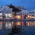 Naxos, noční promenáda