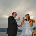 Svatba v Řecku na Santorini, přípitek