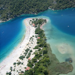 Turecko písečná pláž