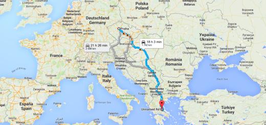 Do Řecka autem